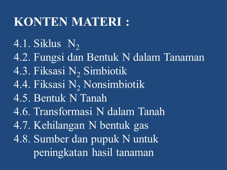 KONTEN MATERI :