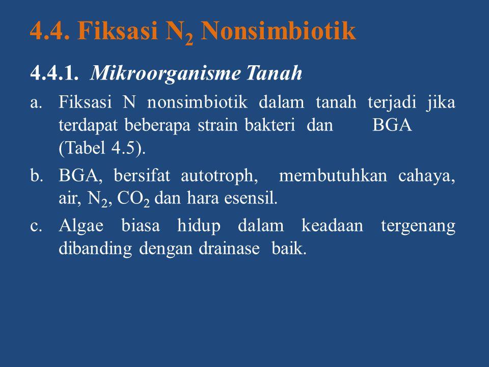 4.4. Fiksasi N2 Nonsimbiotik