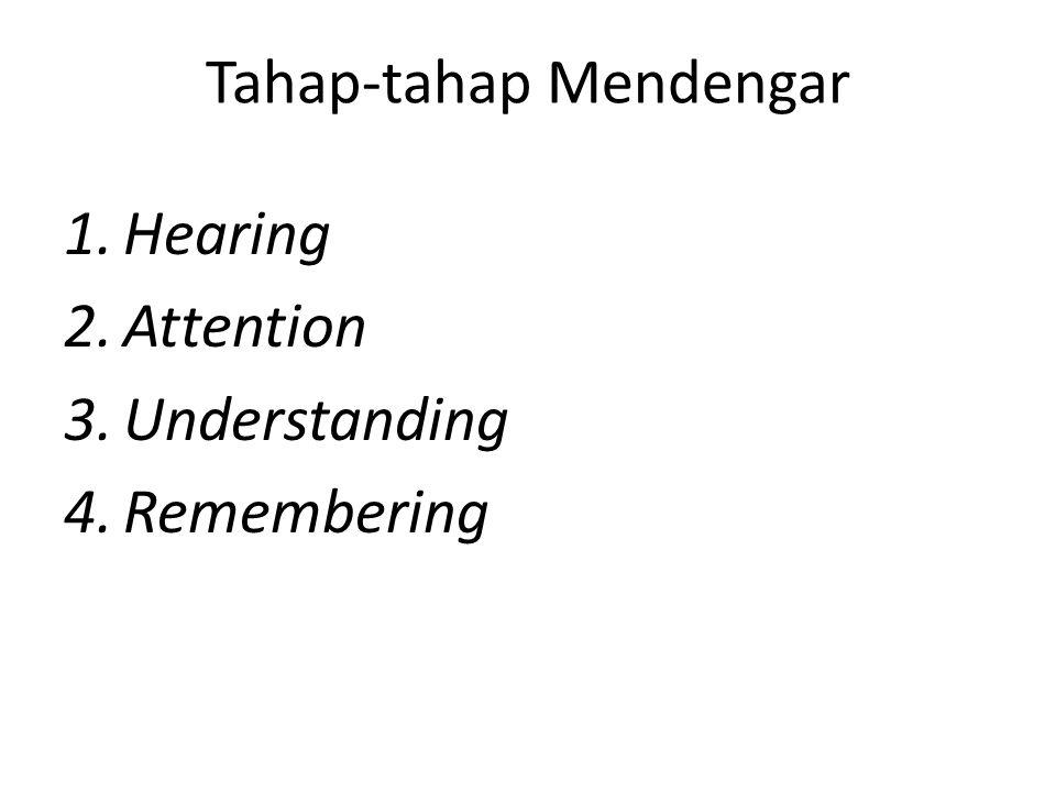 Tahap-tahap Mendengar