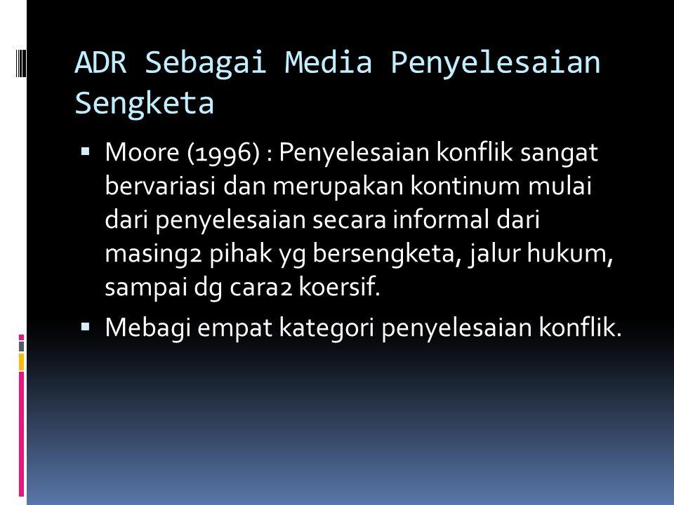 ADR Sebagai Media Penyelesaian Sengketa