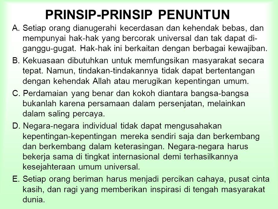 PRINSIP-PRINSIP PENUNTUN