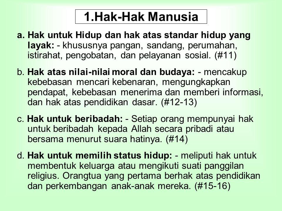 1.Hak-Hak Manusia