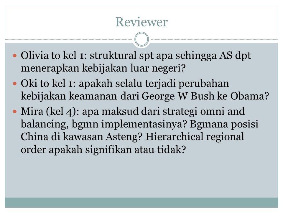 Reviewer Olivia to kel 1: struktural spt apa sehingga AS dpt menerapkan kebijakan luar negeri