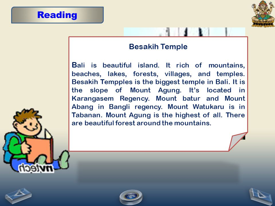 Reading Besakih Temple