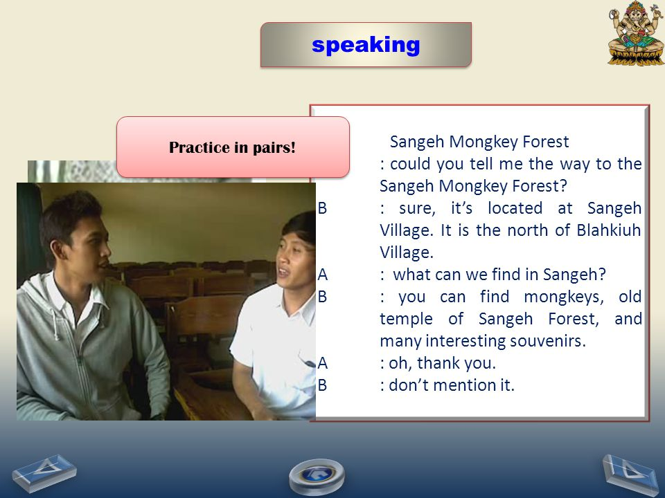 speaking Sangeh Mongkey Forest