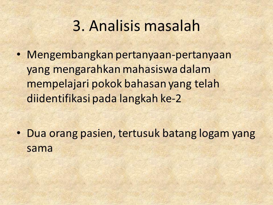 3. Analisis masalah