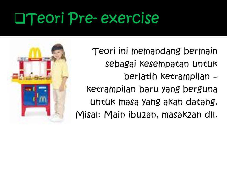 Teori Pre- exercise