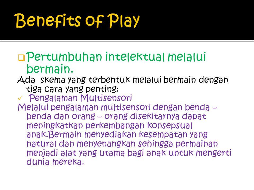 Benefits of Play Pertumbuhan intelektual melalui bermain.