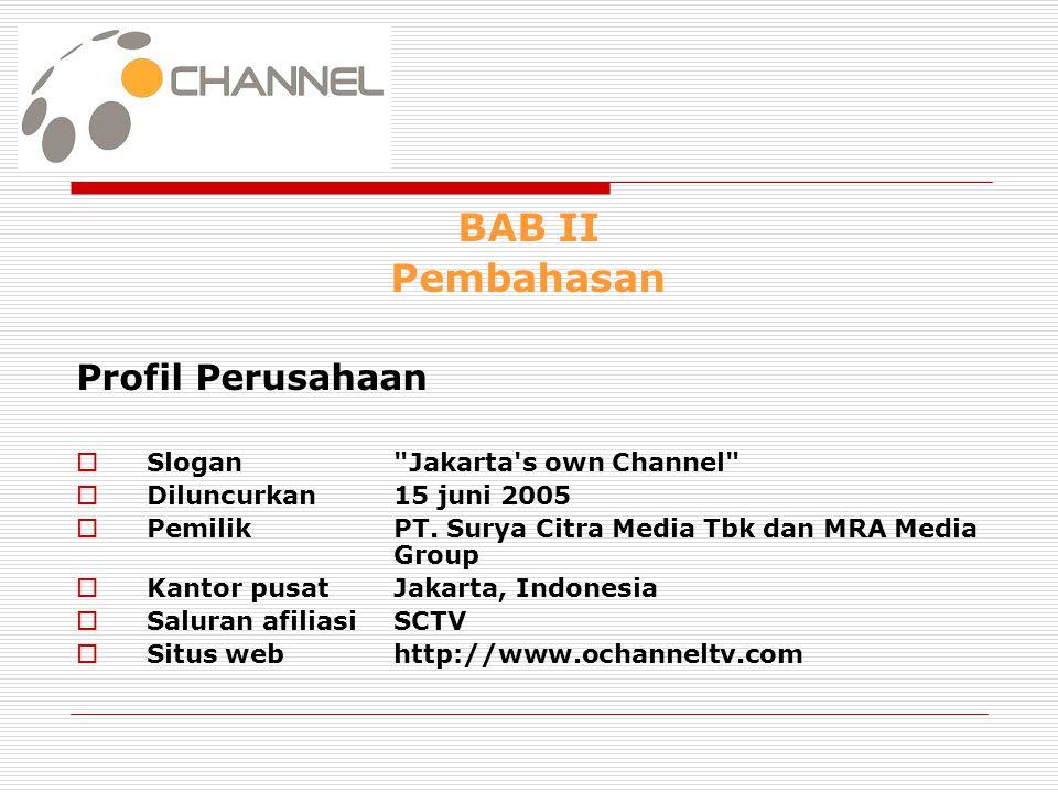 BAB II Pembahasan Profil Perusahaan Slogan Jakarta s own Channel