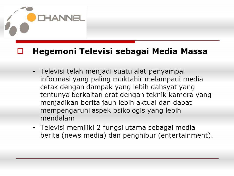 Hegemoni Televisi sebagai Media Massa