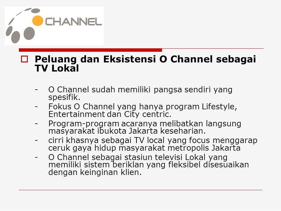 Peluang dan Eksistensi O Channel sebagai TV Lokal