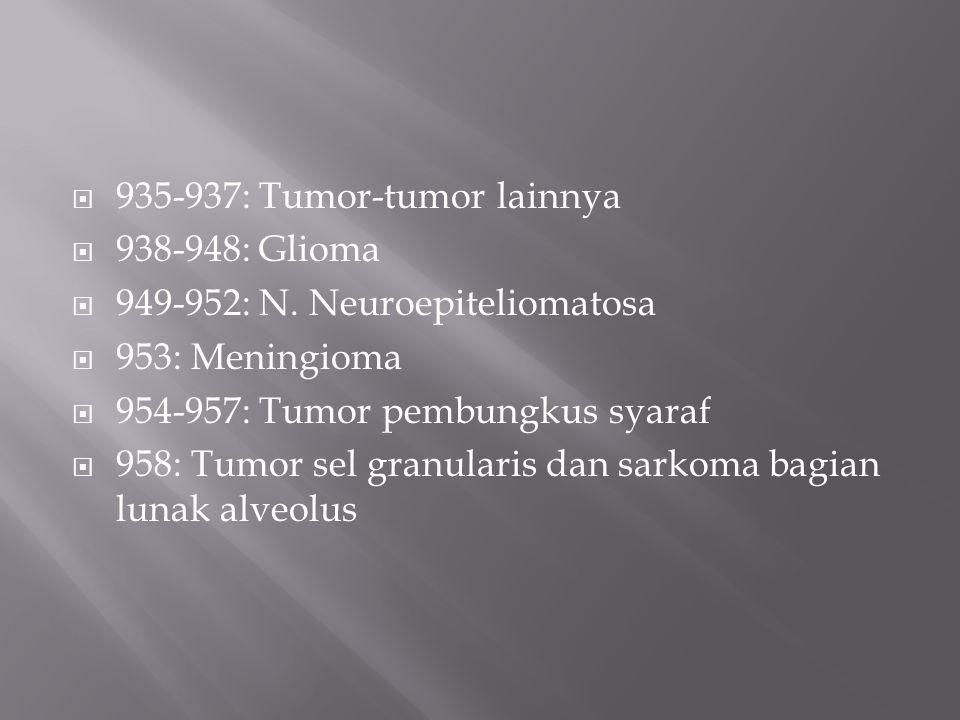 935-937: Tumor-tumor lainnya