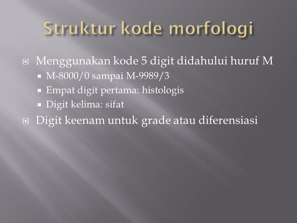 Struktur kode morfologi