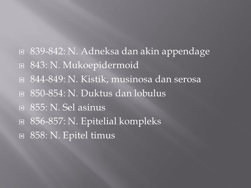 839-842: N. Adneksa dan akin appendage