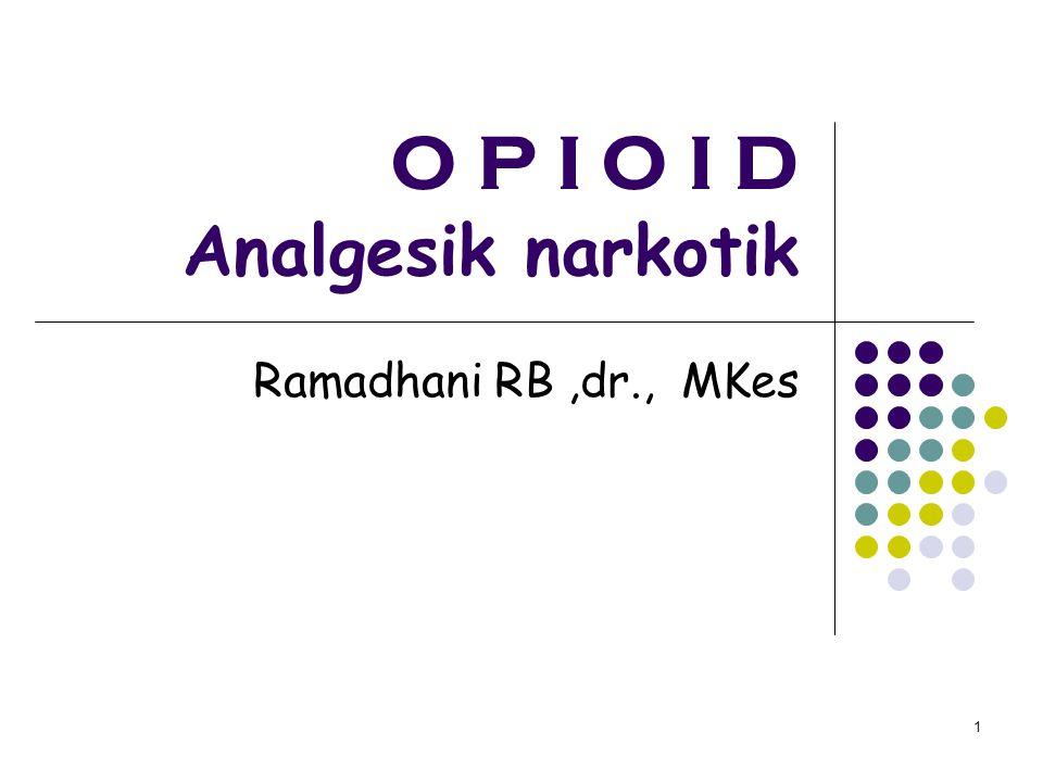 O P I O I D Analgesik narkotik