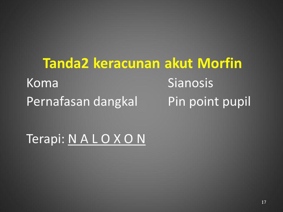 Tanda2 keracunan akut Morfin