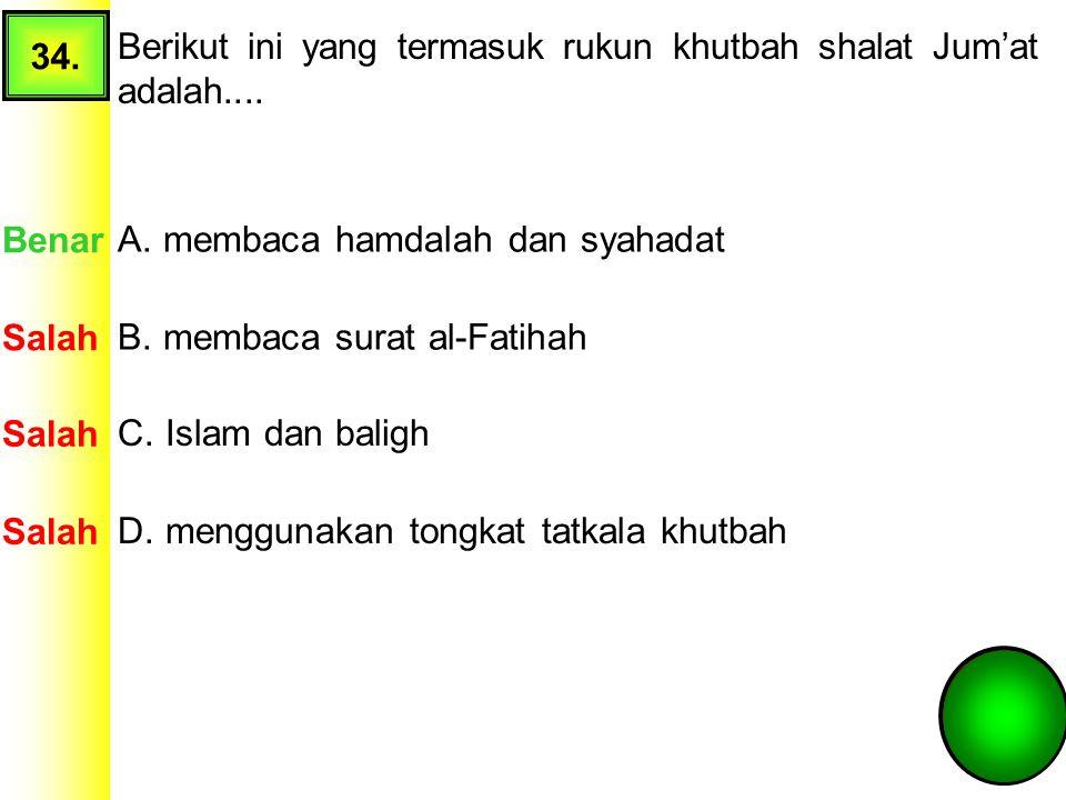 A. membaca hamdalah dan syahadat