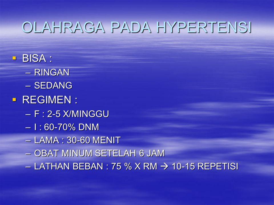 OLAHRAGA PADA HYPERTENSI