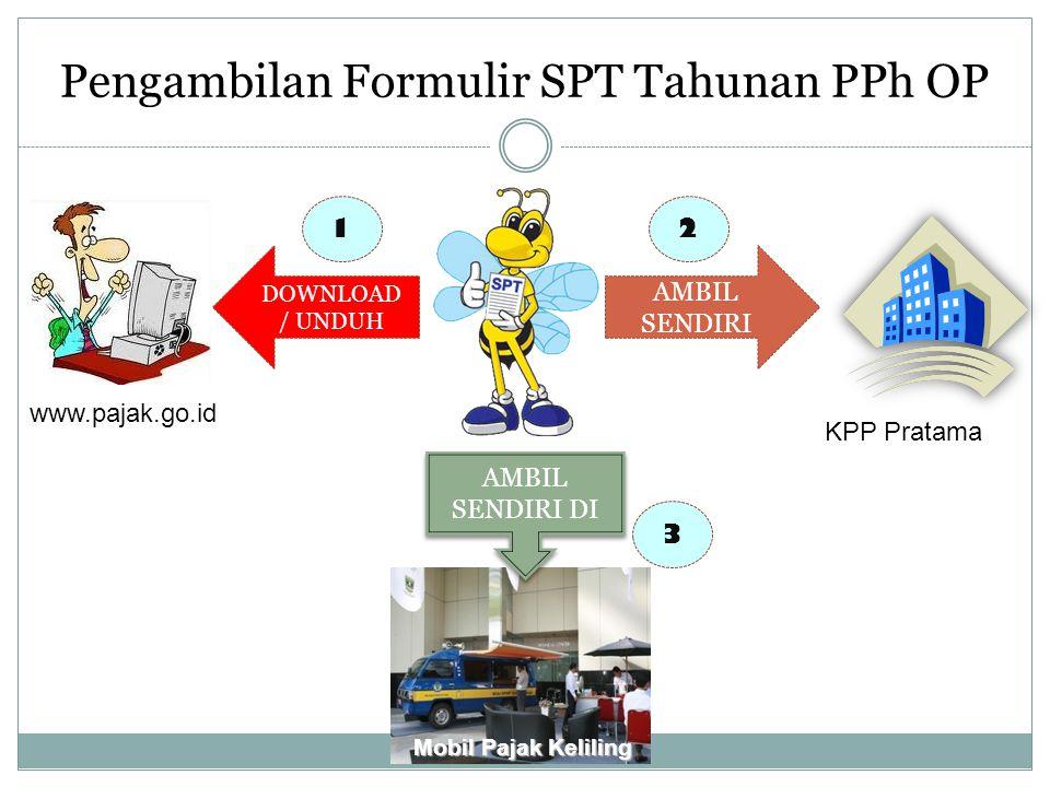 Pengambilan Formulir SPT Tahunan PPh OP