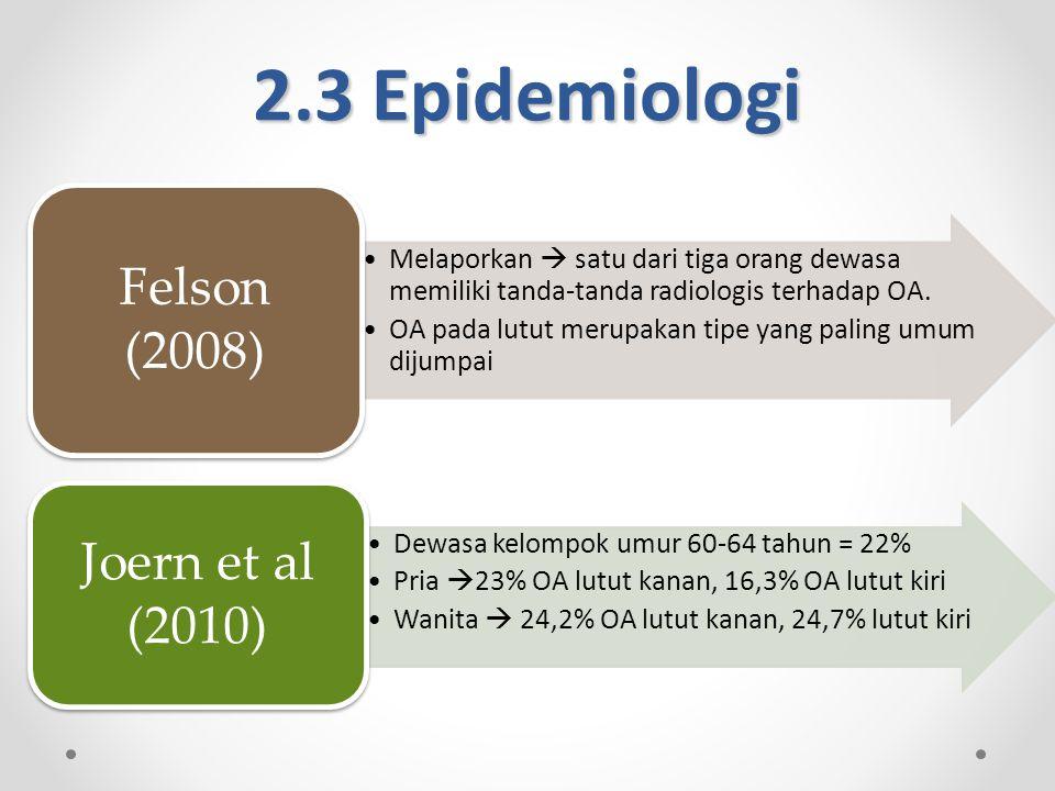 2.3 Epidemiologi Joern et al (2010) Felson (2008)