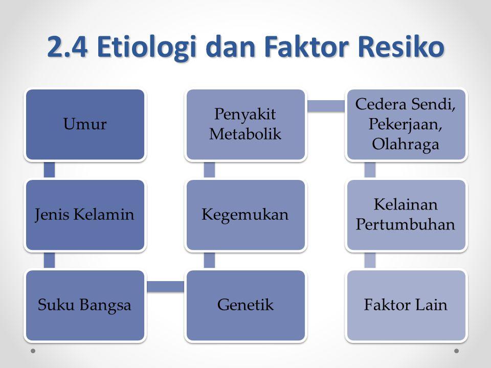 2.4 Etiologi dan Faktor Resiko