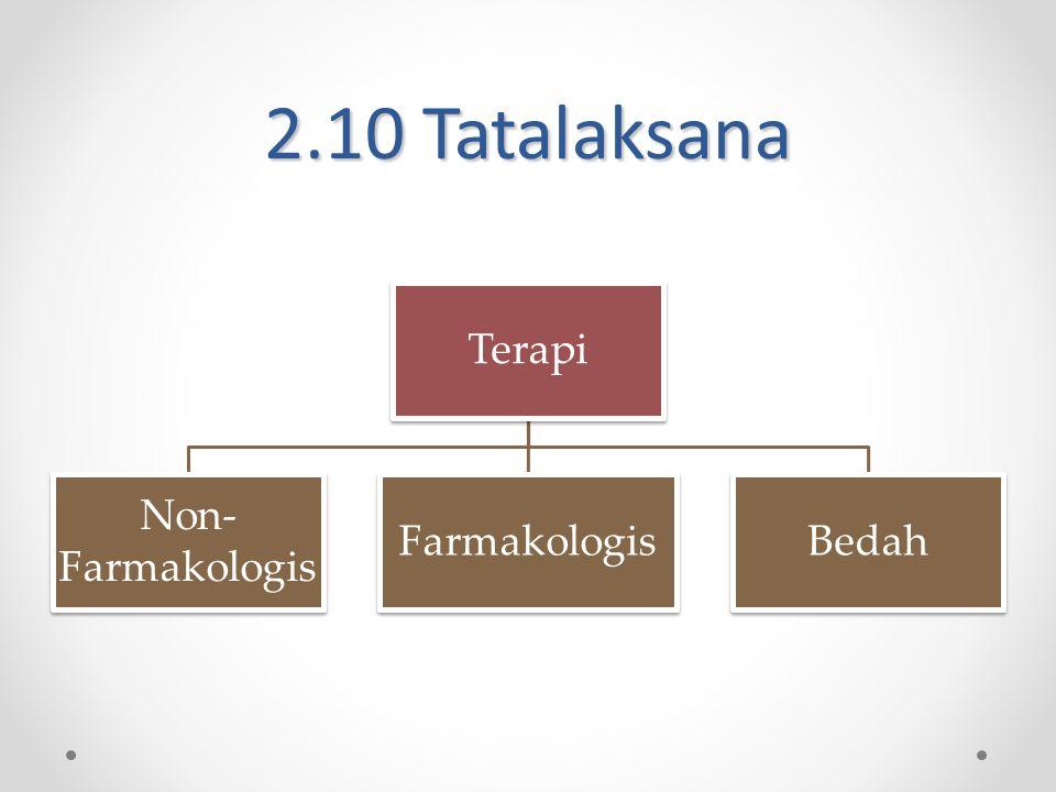 2.10 Tatalaksana Terapi Non-Farmakologis Farmakologis Bedah