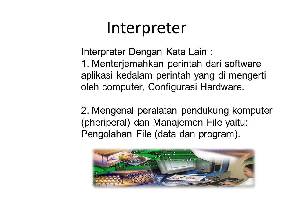 Interpreter Interpreter Dengan Kata Lain :
