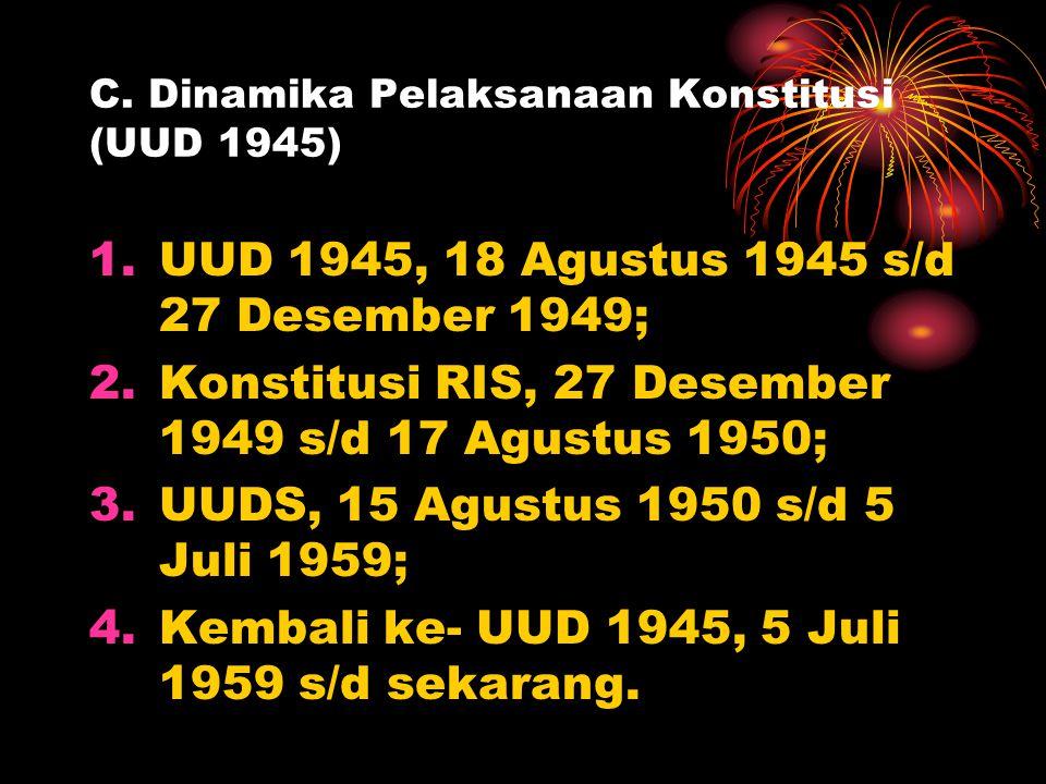 C. Dinamika Pelaksanaan Konstitusi (UUD 1945)