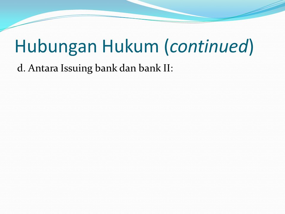 Hubungan Hukum (continued)