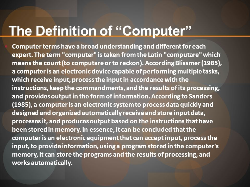 The Definition of Computer