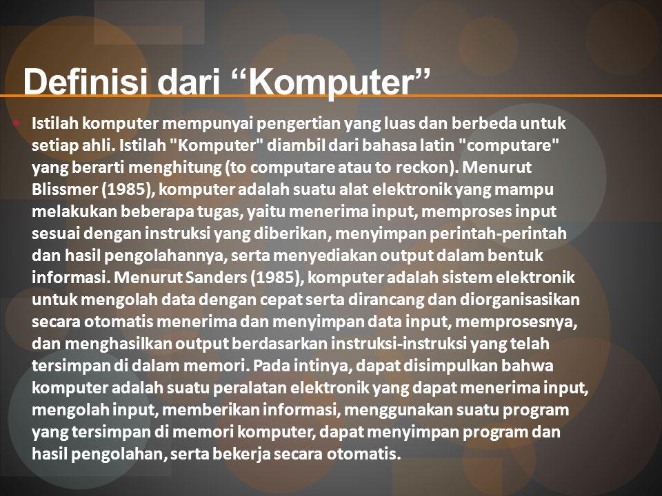 Definisi dari Komputer