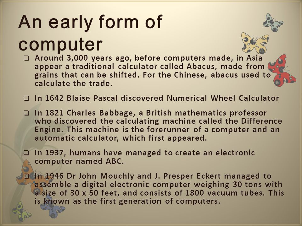An early form of computer