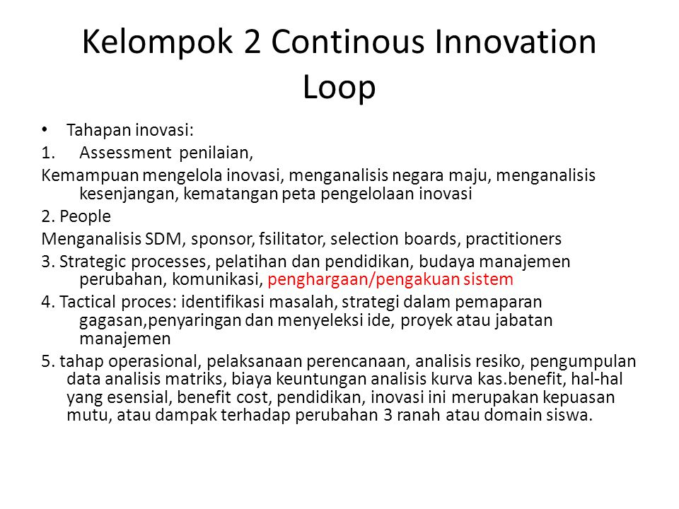 Kelompok 2 Continous Innovation Loop