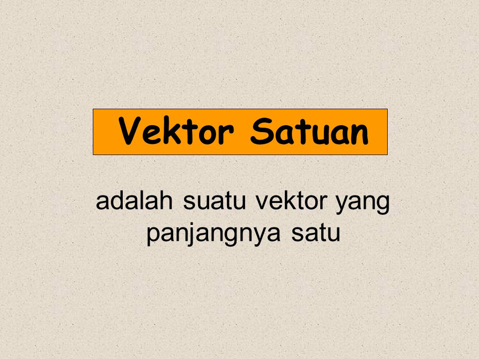 adalah suatu vektor yang