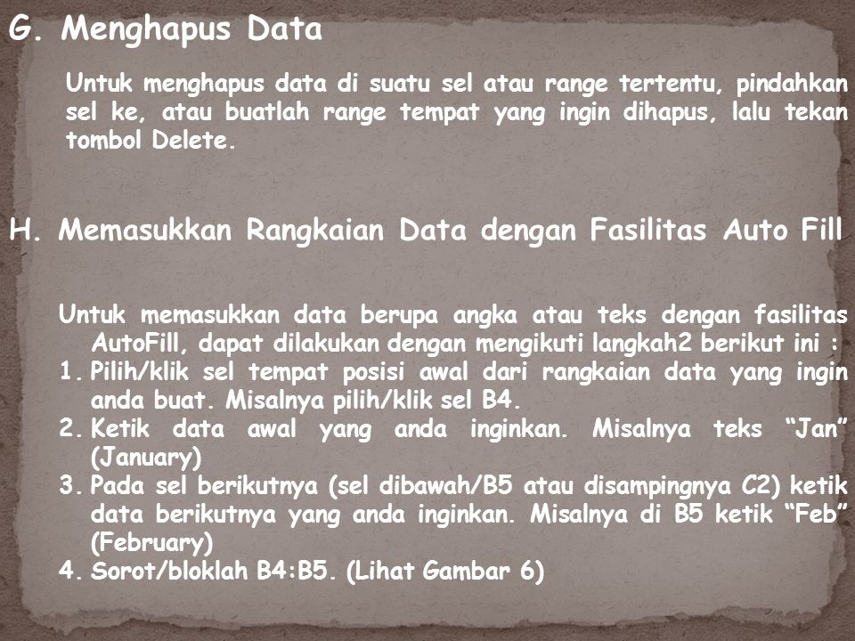 G. Menghapus Data