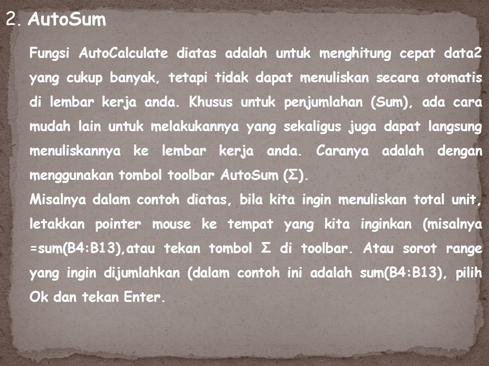 2. AutoSum
