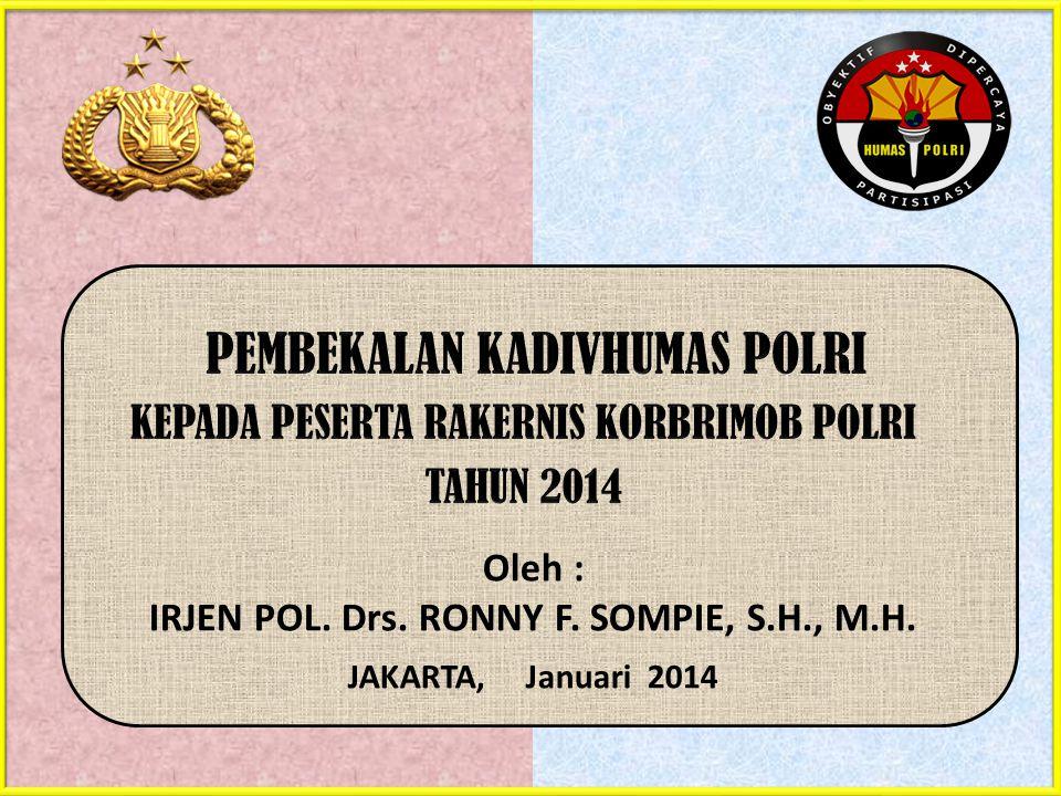 IRJEN POL. Drs. RONNY F. SOMPIE, S.H., M.H.