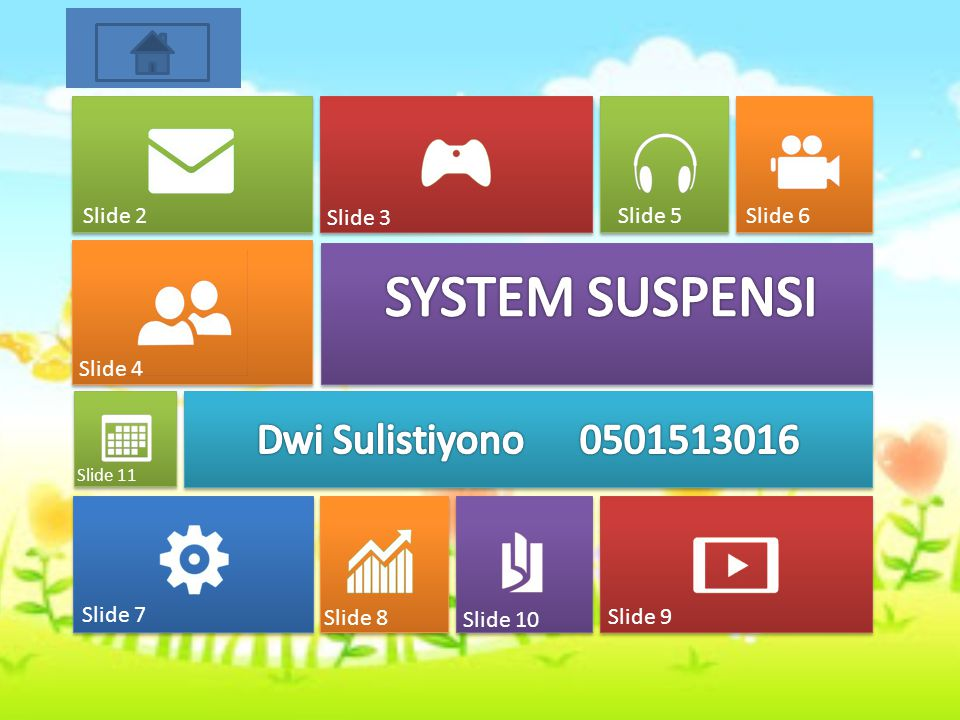 SYSTEM SUSPENSI Dwi Sulistiyono 0501513016 Slide 2 Slide 3 Slide 5