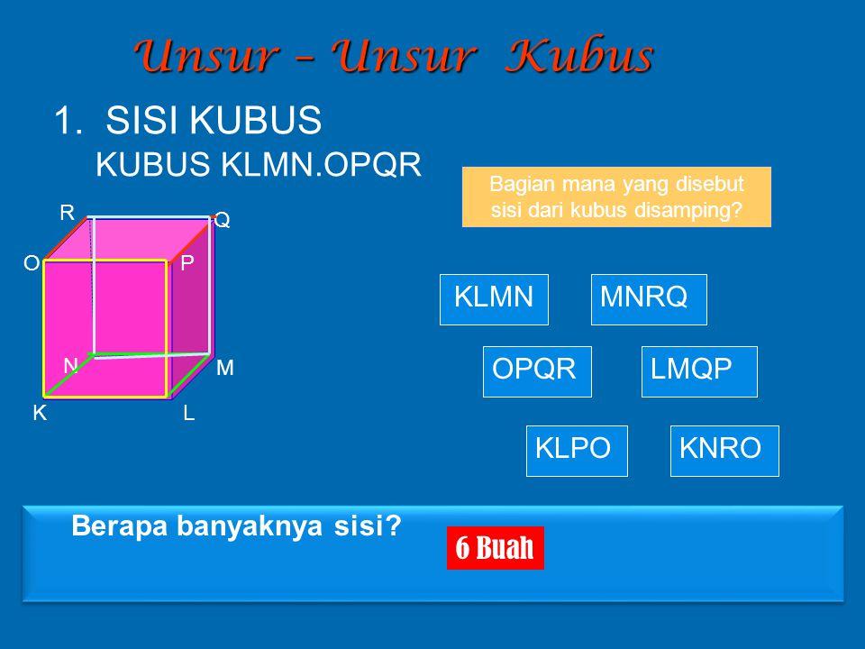 Bagian mana yang disebut sisi dari kubus disamping