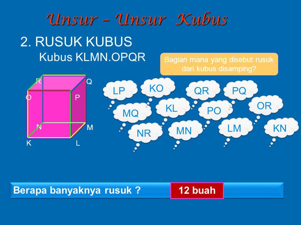 Bagian mana yang disebut rusuk dari kubus disamping