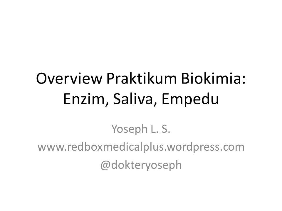 Overview Praktikum Biokimia: Enzim, Saliva, Empedu