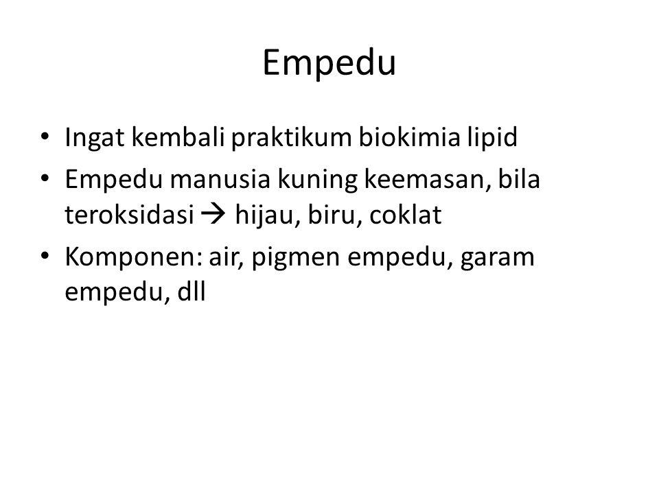 Empedu Ingat kembali praktikum biokimia lipid