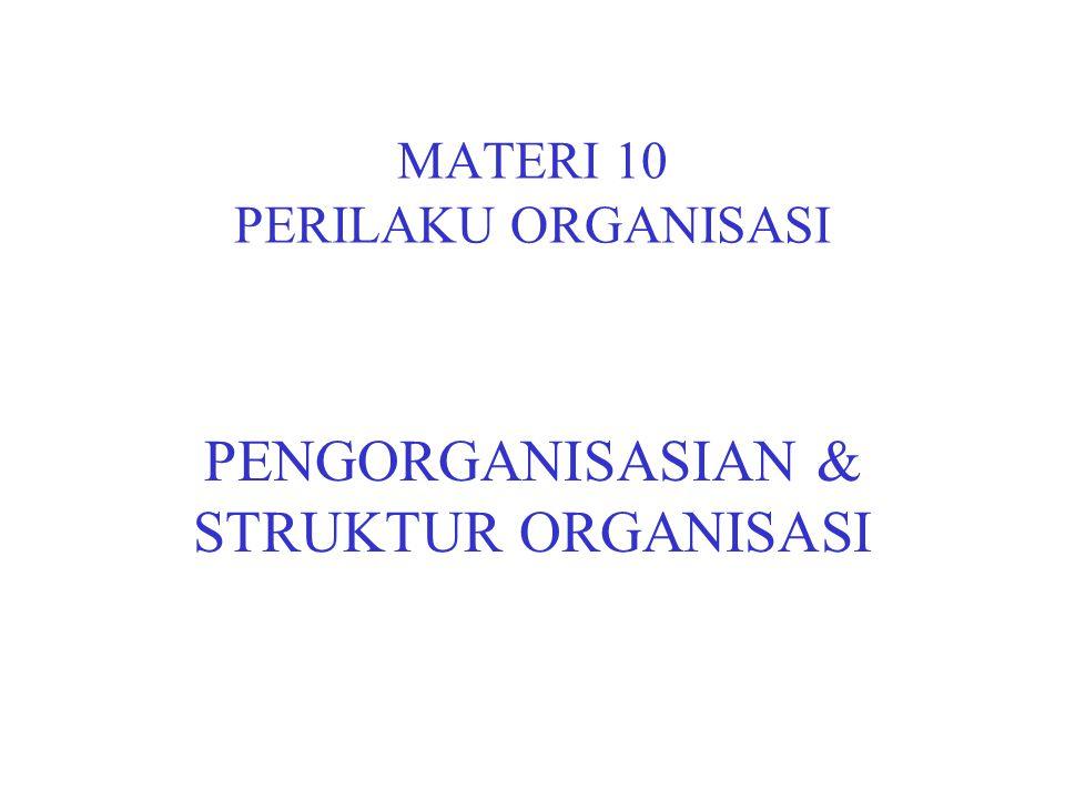 MATERI 10 PERILAKU ORGANISASI