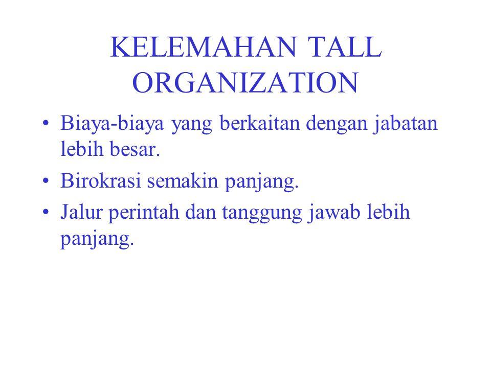 KELEMAHAN TALL ORGANIZATION