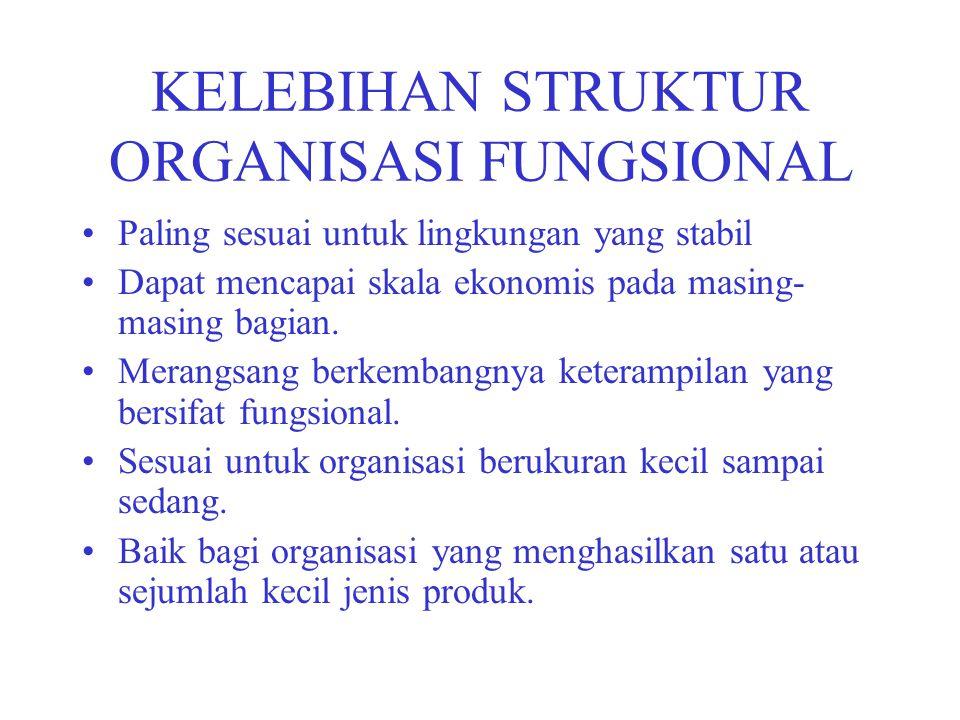 KELEBIHAN STRUKTUR ORGANISASI FUNGSIONAL