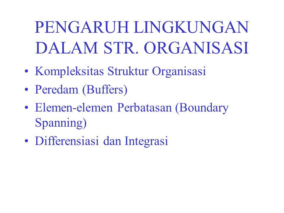 PENGARUH LINGKUNGAN DALAM STR. ORGANISASI