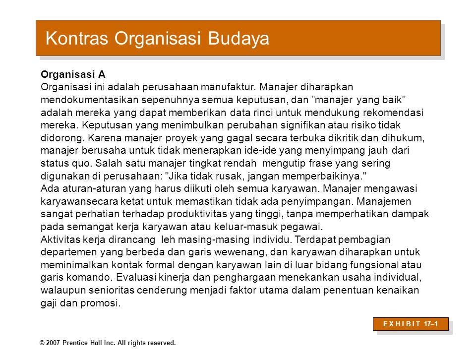 Contrasting Organizational Cultures (cont'd)