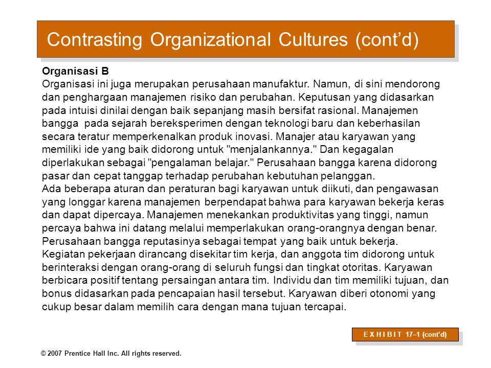 Apakah Organisasi memiliki keseragaman budaya