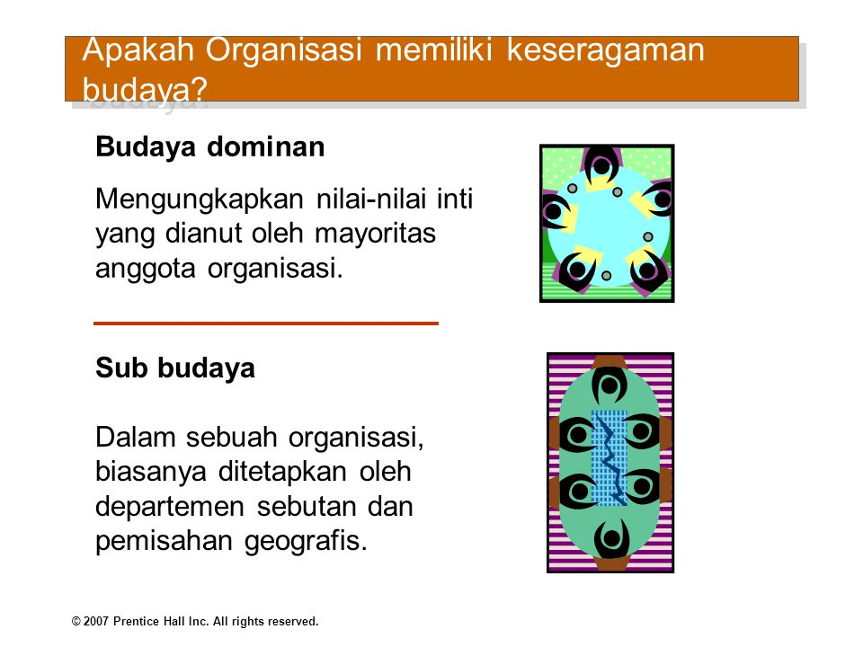 Apakah Organisasi memiliki keseragaman budaya (cont d)
