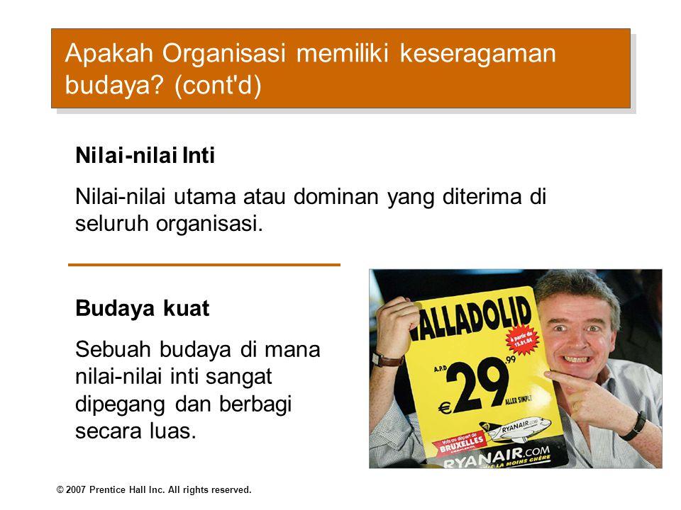 Apakah Budaya Organisasi (cont d)